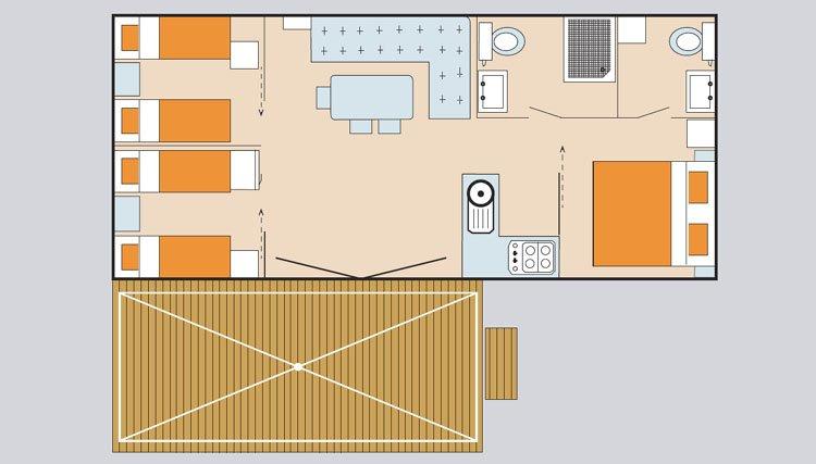 Casa mobile superior deluxe toscana italia norcenni - Bagno tahiti lido delle nazioni ...