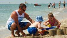 Italië, Adriatische kust - zandkastelen bouwen